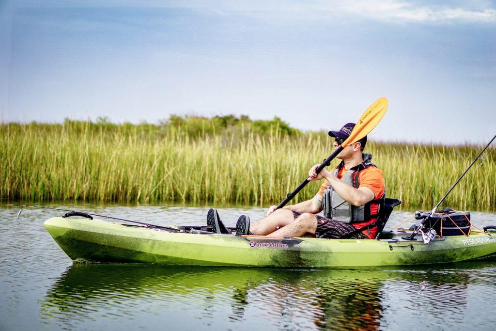 paddling fishing kayak